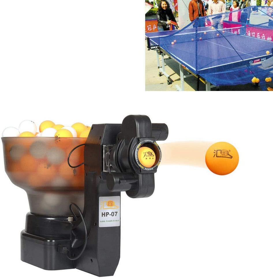 DYRABREST HP-07 Professional Ping Pong Machine Robot, Table Tennis Robot Automatic Ball Machine for Ping-Pong Training Practicing (US Stock)