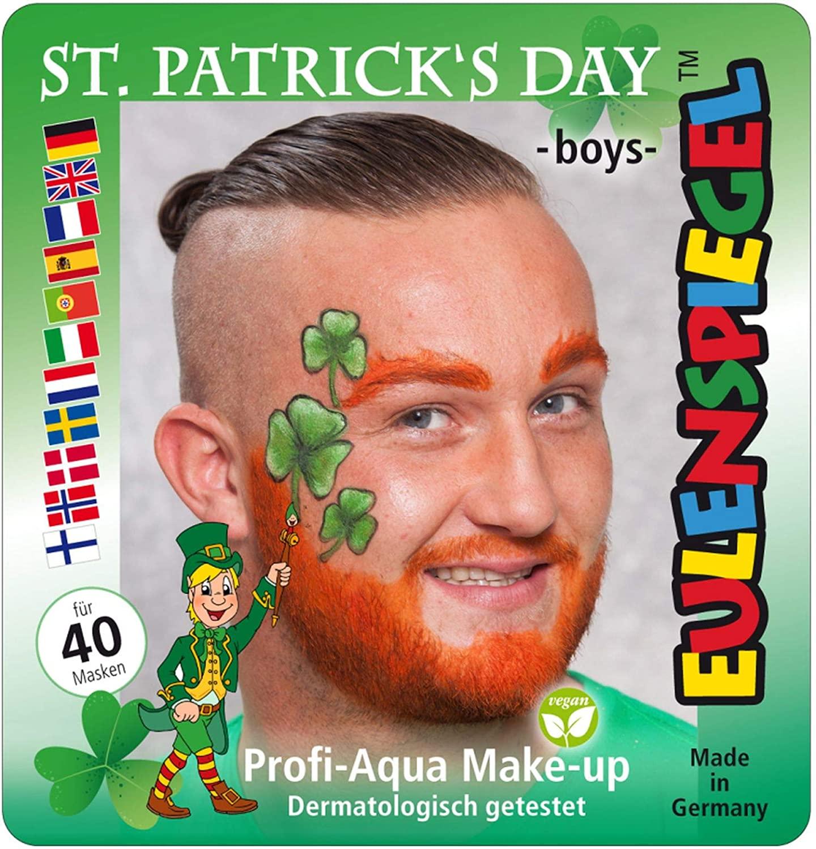 Oulenspiegel 203132 St.Patrick's Day Boys Design White Black Green Orange