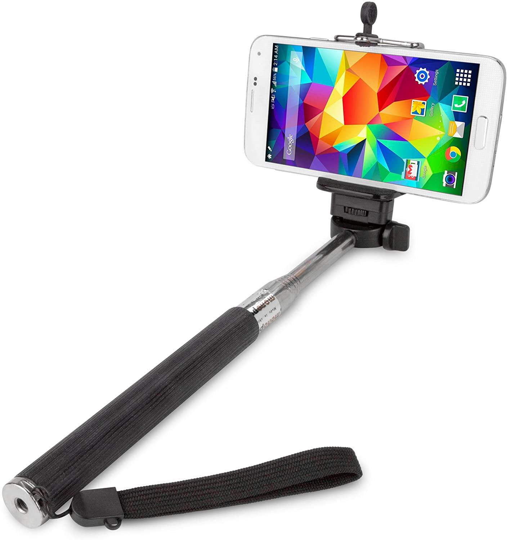 BoxWave SelfiePod LG Optimus L90 Selfie Stick Photo Assistant - LG Optimus L90 Monopod Selfie Stick Handheld Extender Arm - Take Perfect Photos Every Time (Jet Black)