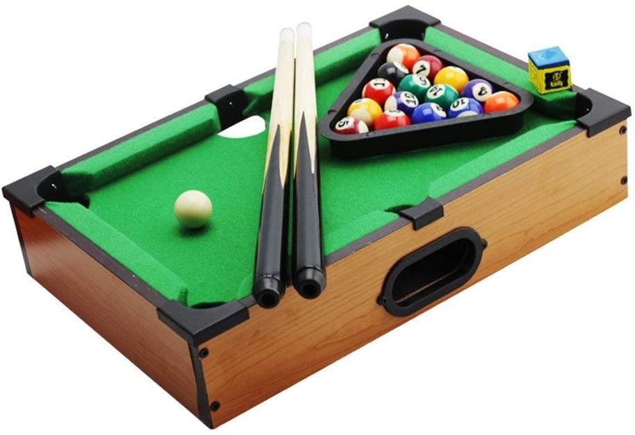 PUEEPDEE Mini Pool-Billiard Table Desktop Miniature Pool Table Set Tabletop Toy Gaming Mini Pool-Billiard Table for Adults Kids Mini Pool Table for Kids (Color, Size : 25x35x7cm)