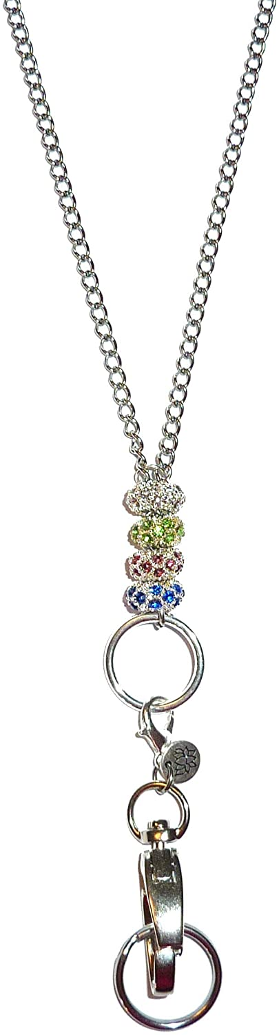 Chain Bling Style Made in USA, Women's Fashion Beaded Lanyard or Necklace 34
