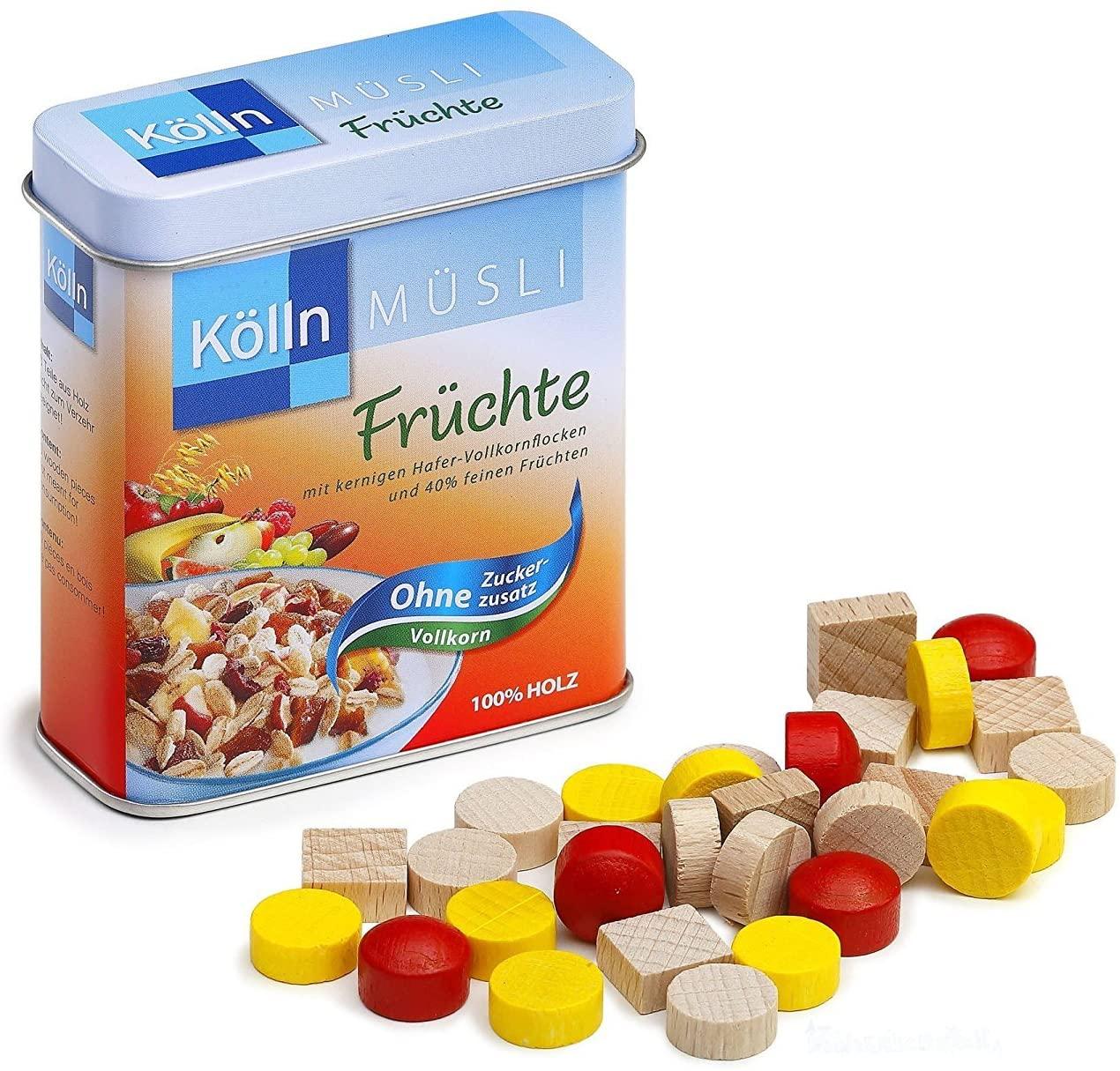 Erzi Wooden Grocery Shop Kölln Cereals in a Tin, 7.1 x 3.1 x 8.1 cm