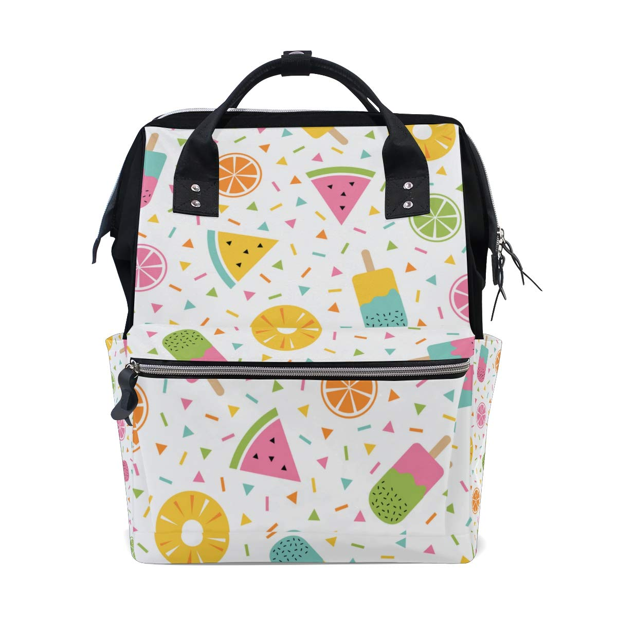 A Seed Backpack Baby Diaper Bag Watermelon Summer Popsicle for Girls Women Tote Daypack Bookbag