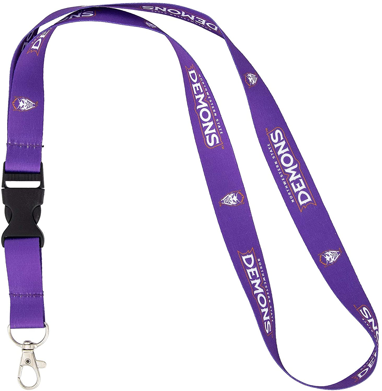 Northwestern State University NSU Demons NCAA Car Keys ID Badge Holder Lanyard Keychain Detachable Breakaway Snap Buckle
