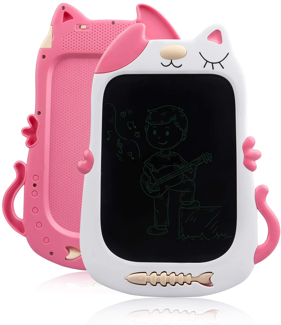 TENOL Girl Toys for 3-6 Year Old Girls Gifts Age 3, Drawing Board LCD Doodle Board for 3-6 Year Old Girls Toys for Birthday Girls Toys Age 3-6 Kitty Pink
