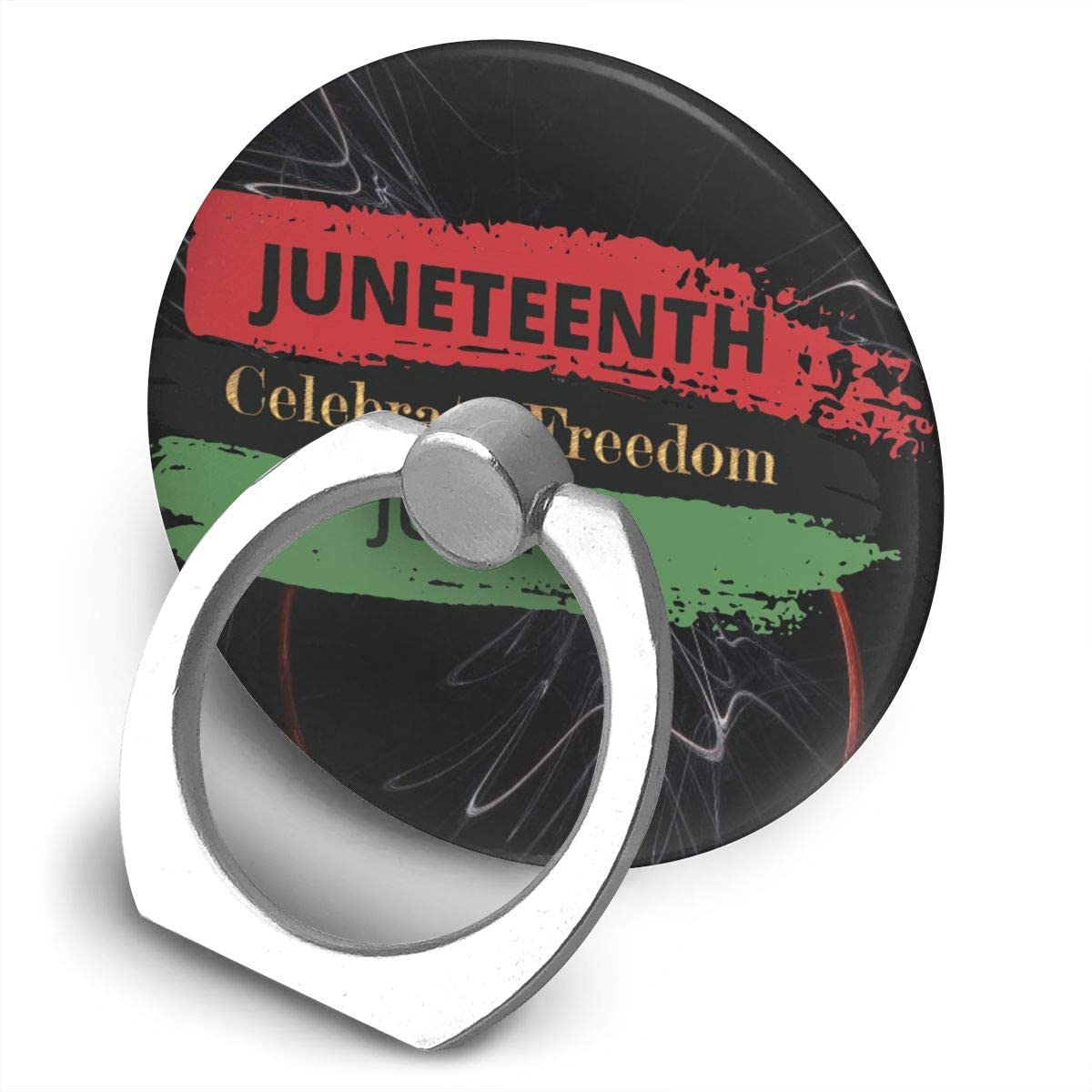 Sabibiegenwo Juneteenth Celebrate Freedom June 19 360 Degree Rotating Ring Stand Cell Phone Mount
