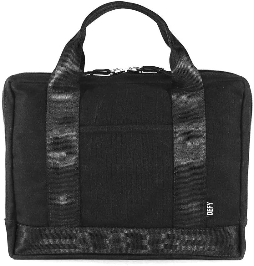 Slim Briefcase | Black Wax Canvas