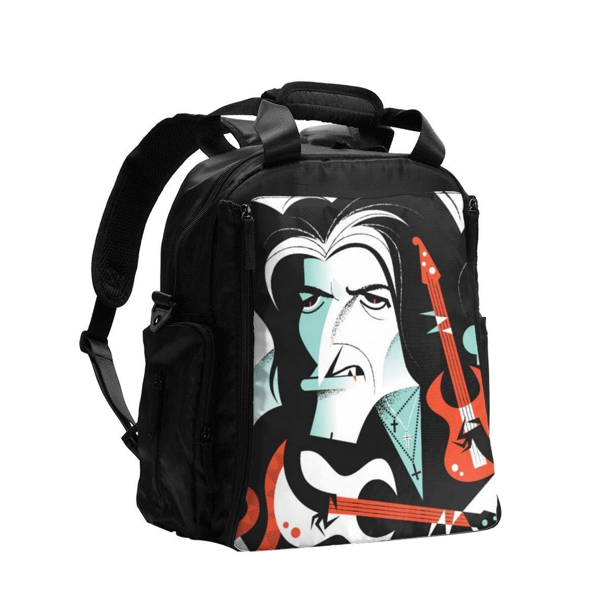 Alice Cooper Diaper Bag Backpack,Baby Travel Nappy Back Pack
