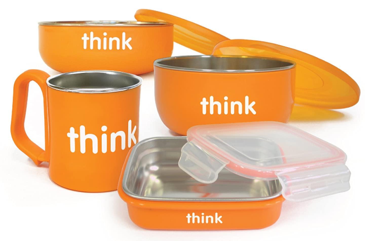 Thinkbaby Complete BPA Free Feeding Set (Orange)