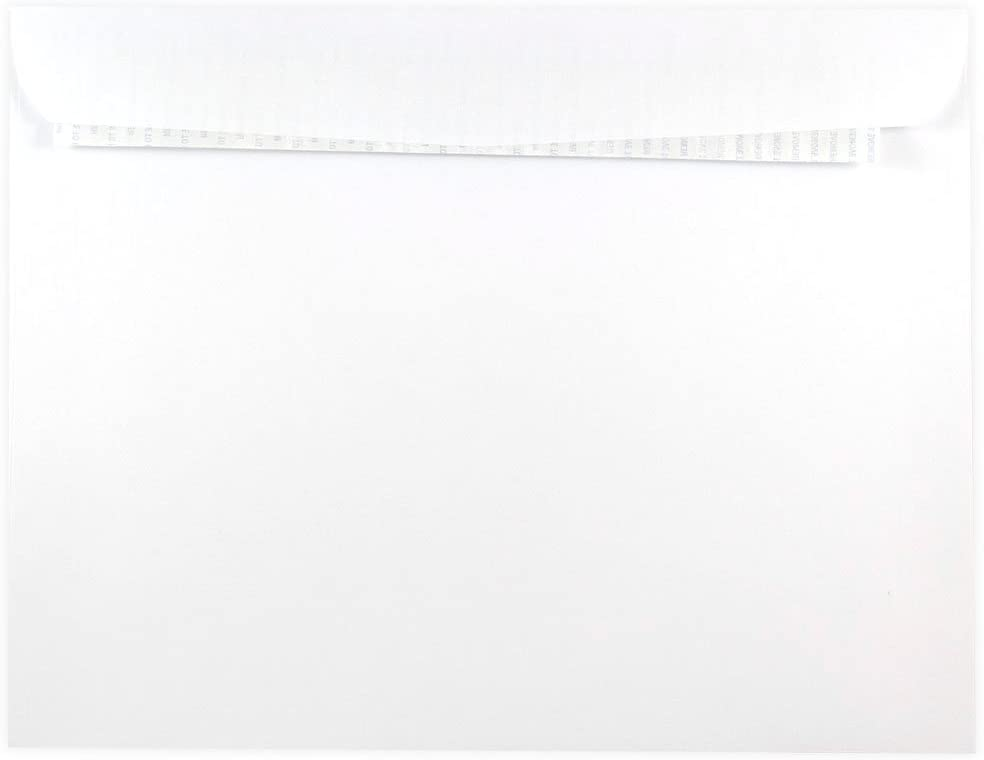 JAM PAPER 10 x 13 Booklet Envelopes with Peel and Seal Closure - White - 50/Pack