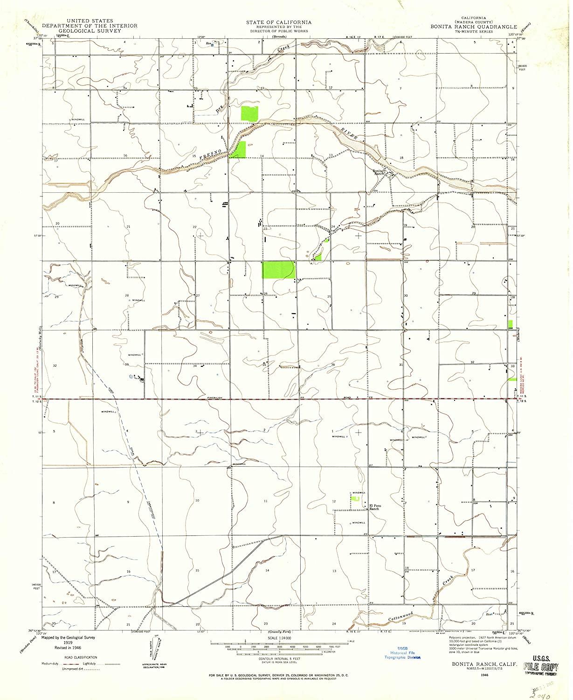 Map Print - Bonita Ranch, California (1946), 1:24000 Scale - 24