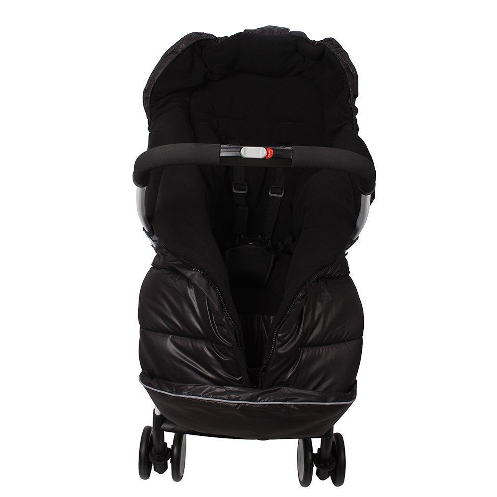 Universal Baby Stroller Fleece Sleeping Bag Infant Pushchair Footmuff Bunting Bag (Black)