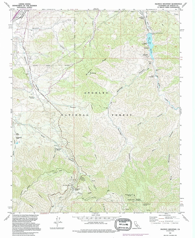 Map Print - Pacifico Mountain, California (1991), 1:24000 Scale - 24