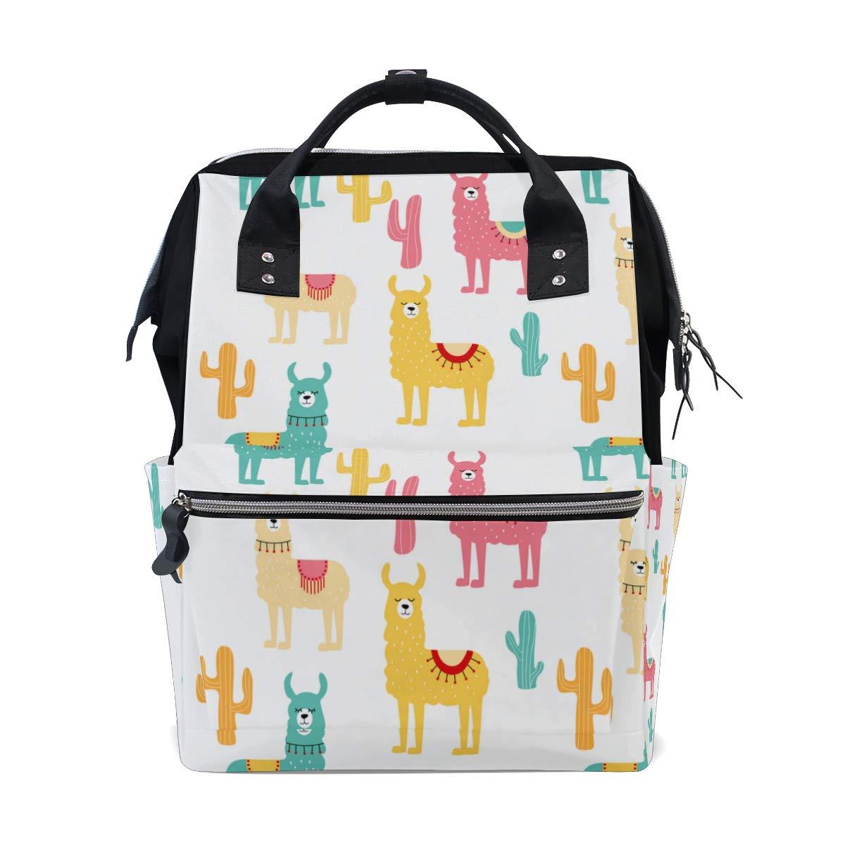 A Seed Backpack Baby Diaper Bag Llamas Cute Animal for Girls Women Tote Daypack Bookbag