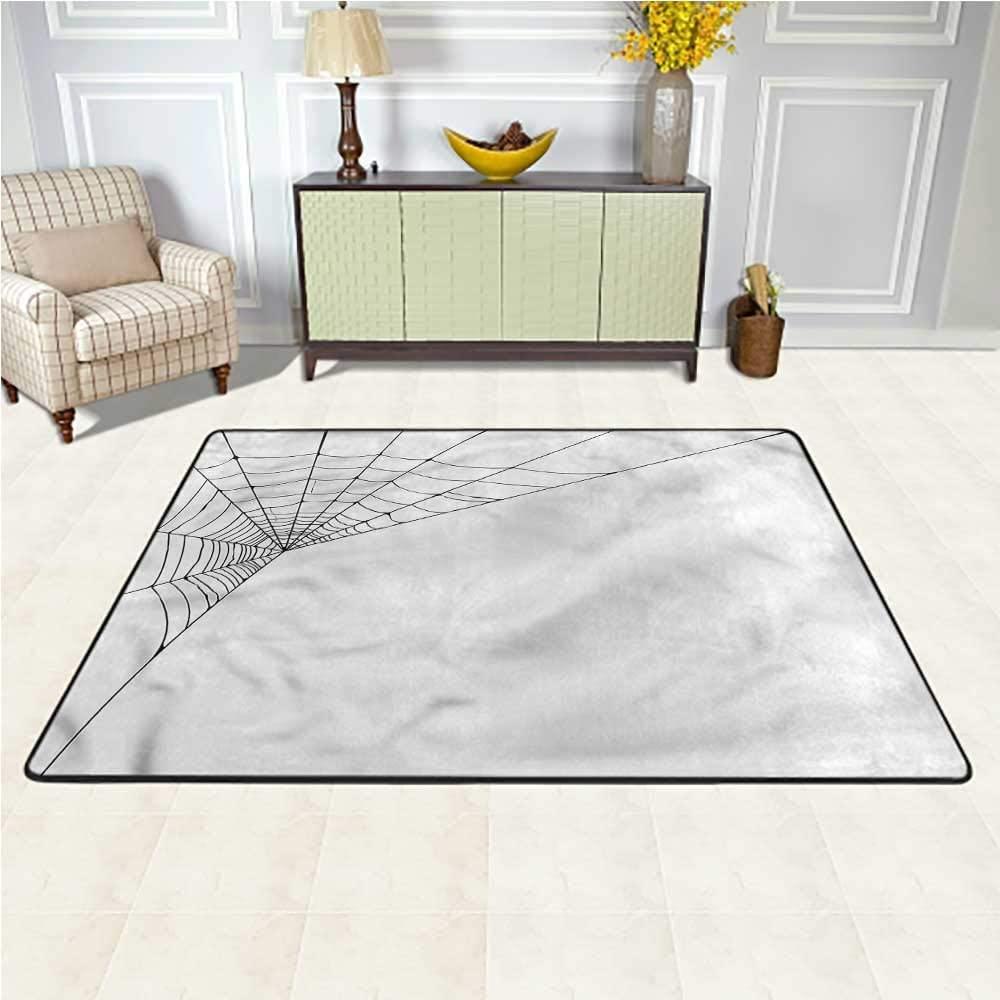 Carpet Modern, Spider Web Icon Halloween Baby Floor Playmats Crawling Mat Suitable for Baby Nursery Decor 6.5 x 10 Feet