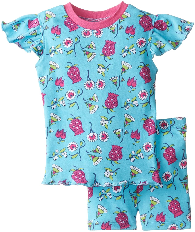 New Jammies Baby Girls' Baby Pajamas Short Set Ottoman Flowers