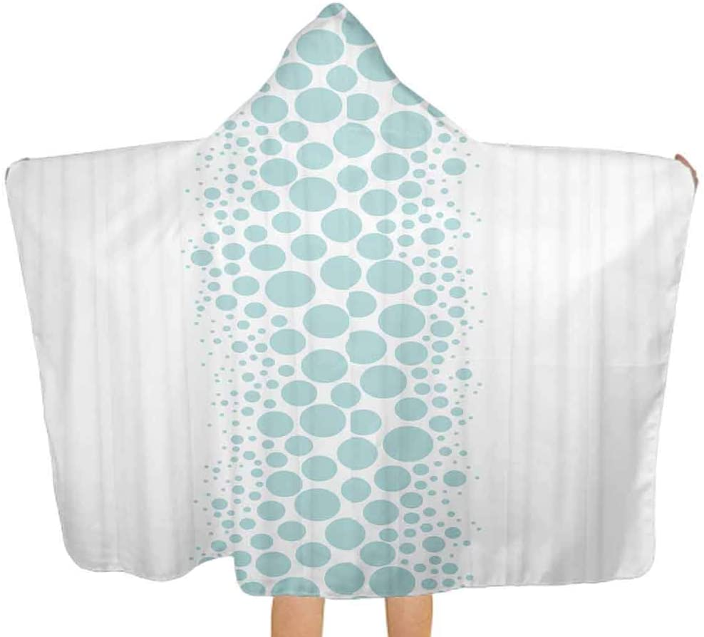 Baby Hooded Bath Towel Tuscany Wildflowers View Oversized Hooded Bath Towel for Toddlers Girls Boys Baby, 51.5x31.8 Inch