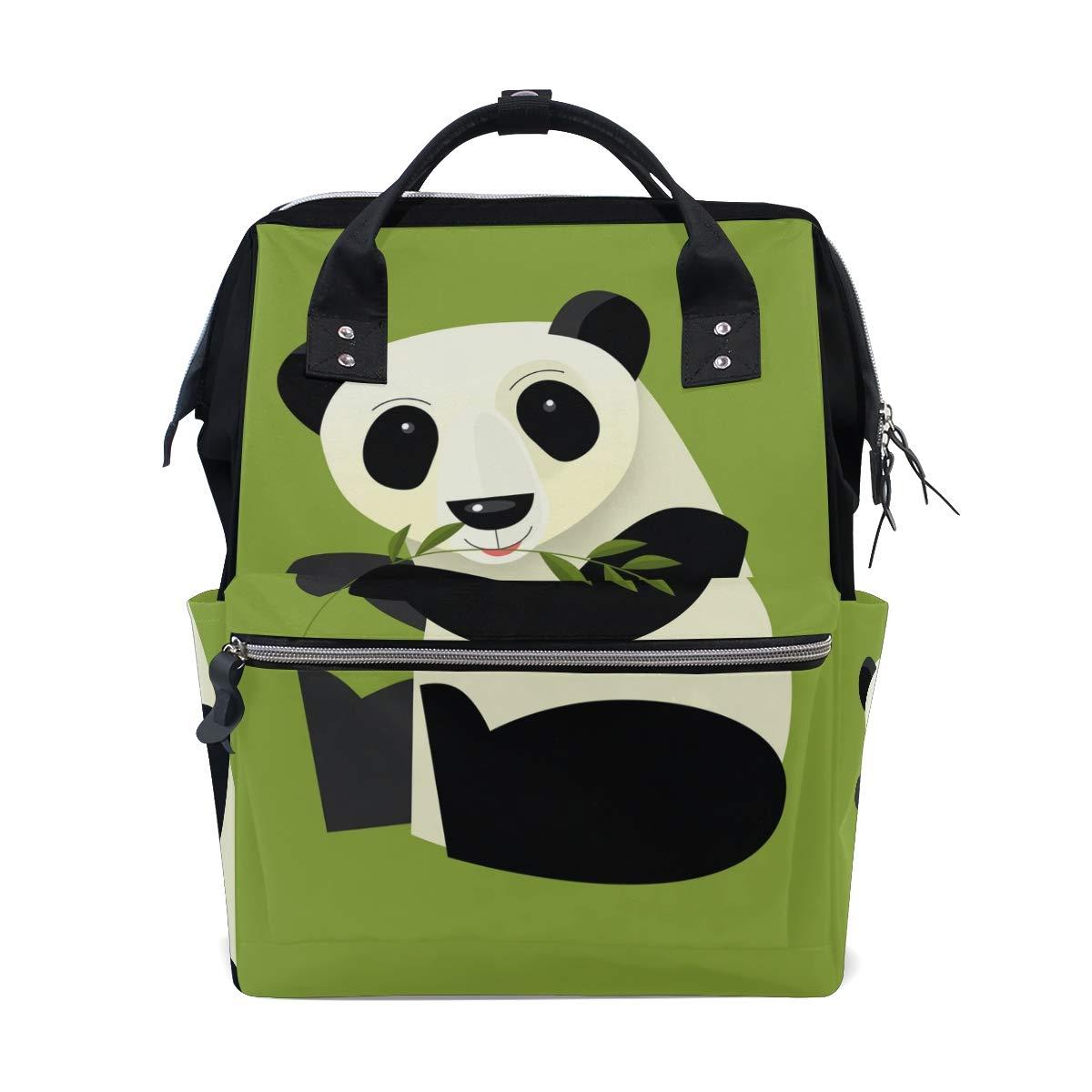 Diaper Bag Backpack Cartoon Panda - Illustrator Multipurpose Travel Backpack