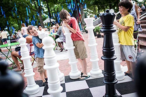 MegaChess Giant Oversized Premium Chess Set with 49 Inch Tall King with Hard Plastic Chess Board