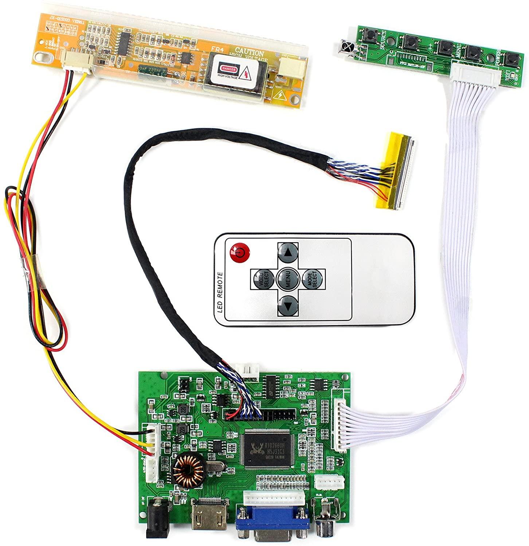 HDMI VGA 2AV Auido Input LCD Controller Board for 15.6
