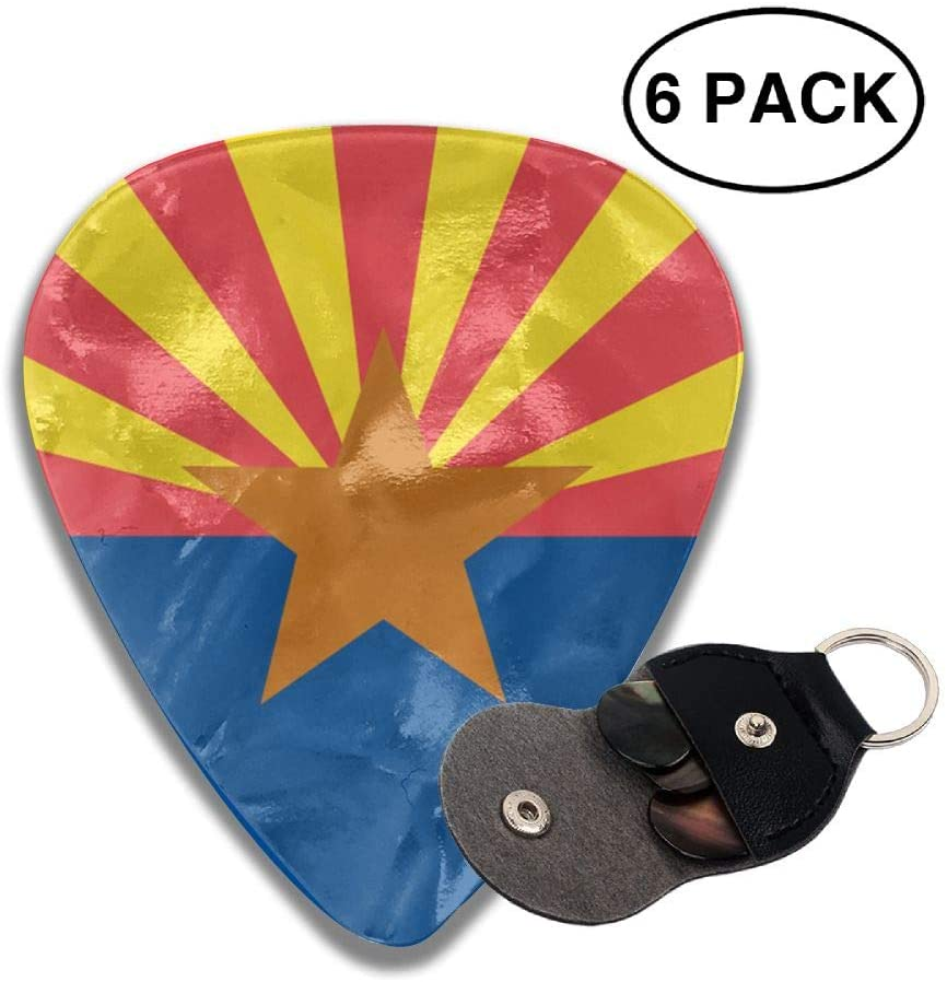 Game Life Arizona State Flag Guitar Picks Plectrums Middle Finger Classic Celluloid Bass Ukulele