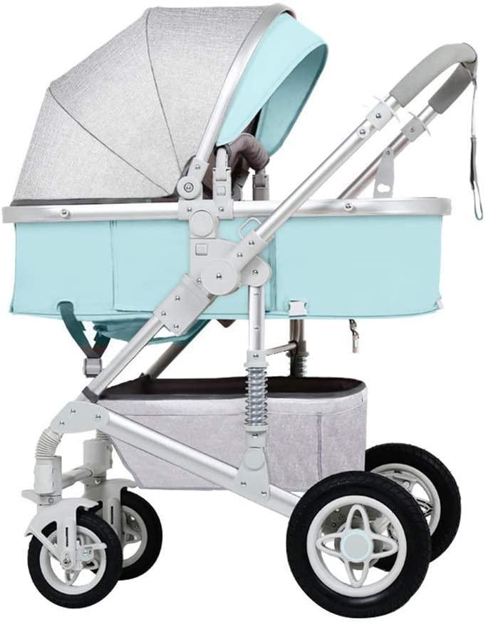 High Landscape Baby Pushchair for 0-3 Years Old Kids Lightweight Foldable Infant Stroller | Shockproof 4 Wheels| Adjustable Seat| Storage Basket