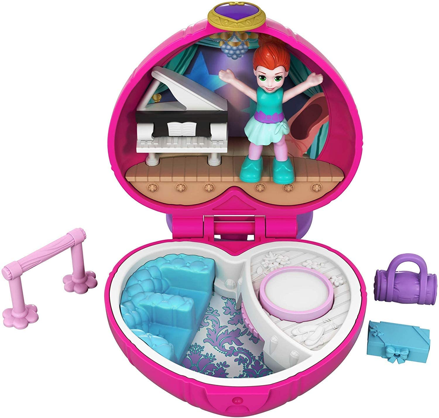 Polly Pocket Tiny Pocket Places Ballet Compact! Lila Doll