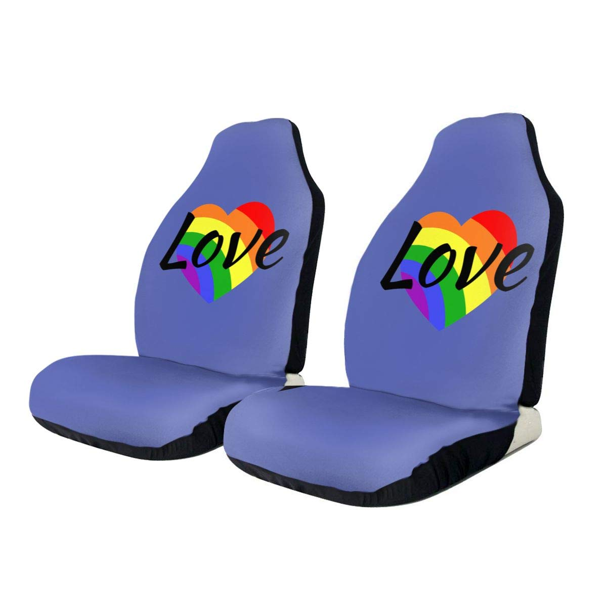 Love LGBT Rainbow Car Seat Protector Car Seat Cover Protector Auto Car Seat Protectors Non-Slip Automotive Seat Protector Universal for Car SUV Trucks Minivan