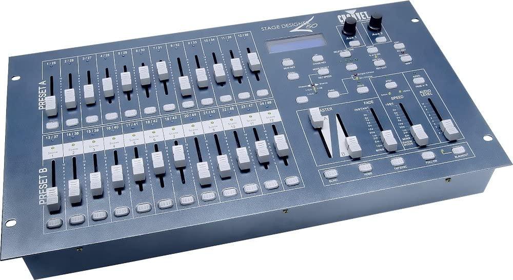 CHAUVET DJ DESIGNER50 Stage Designer 50 Compact 48-Channel DMX-512 Controller | LED Light Controllers