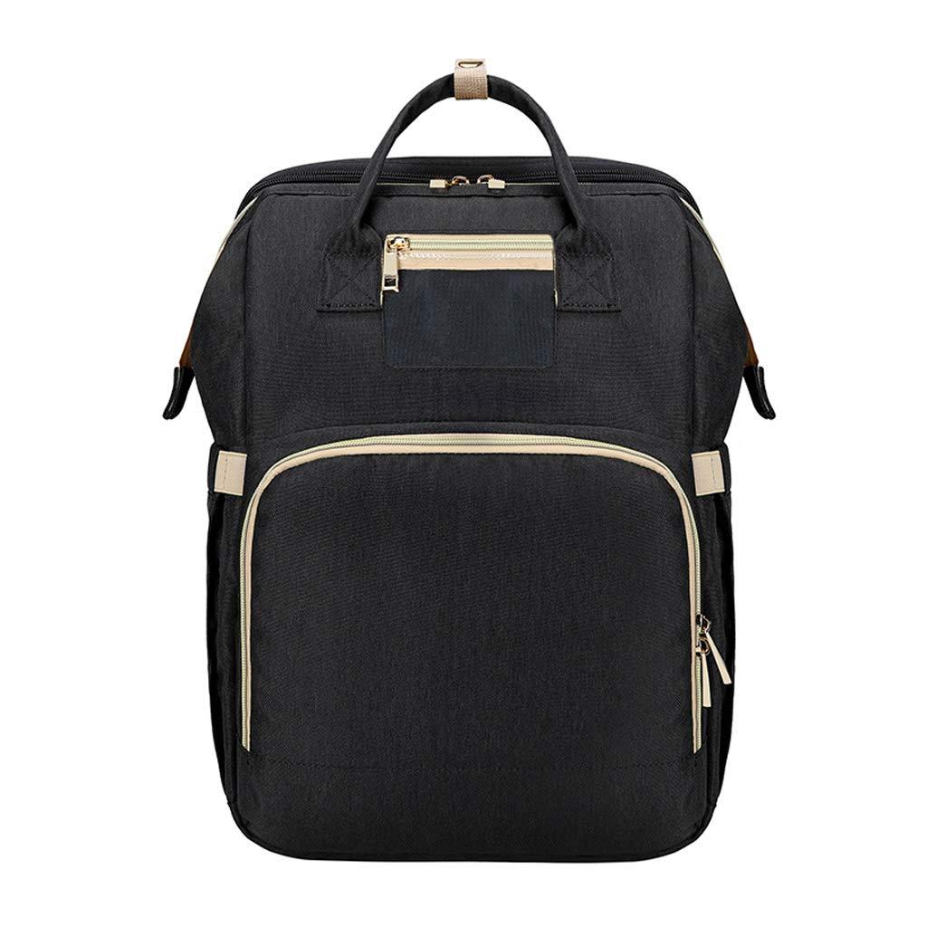 Yeahii 2 in 1 Folding Crib Backpack Multifunctional Large-Capacity Diaper Bag Nappy Bag Handbag Baby Shower Gifts