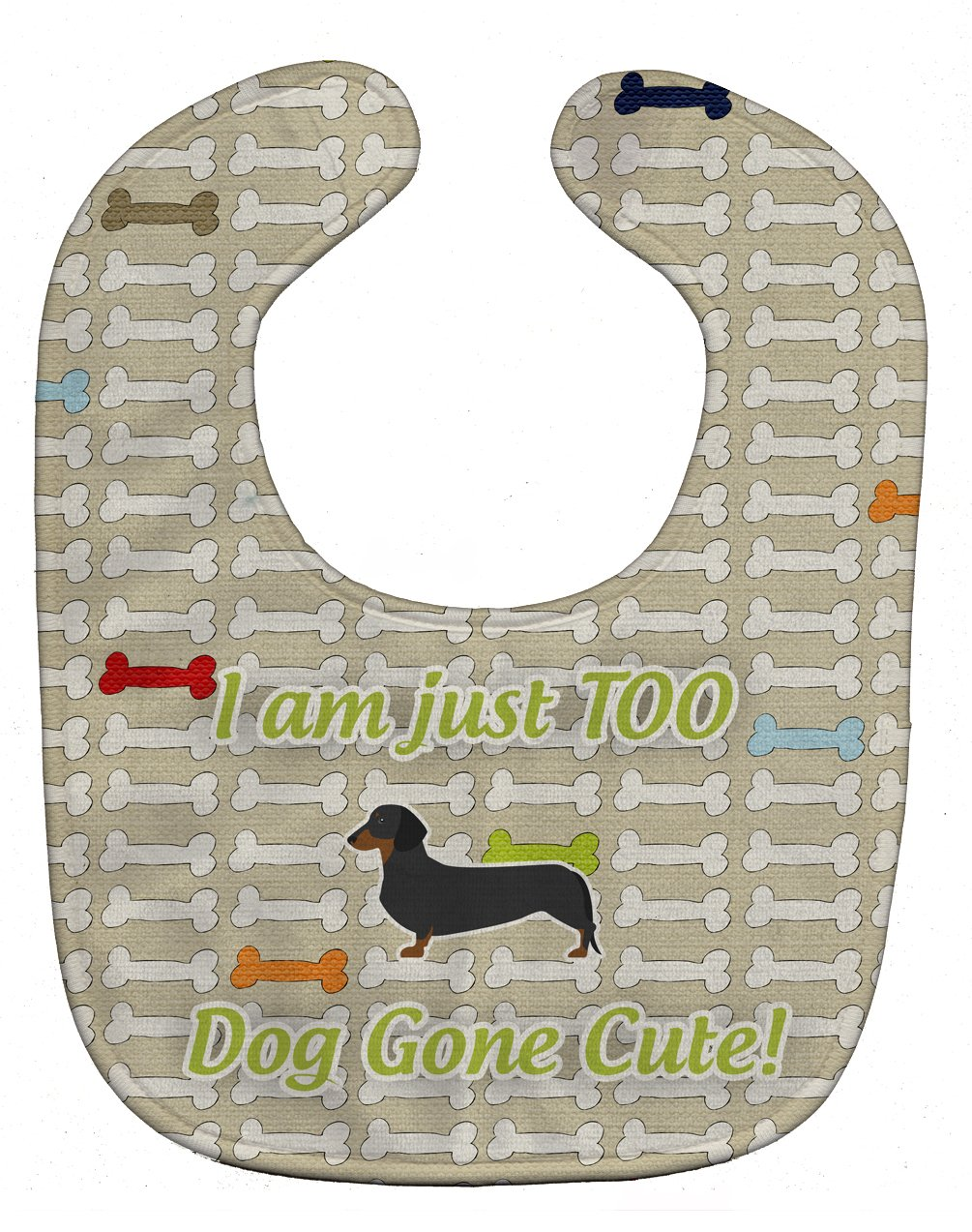 Caroline's Treasures BB6487BIB Dachshund Dog Gone Cute Baby Bib, 10 x 13