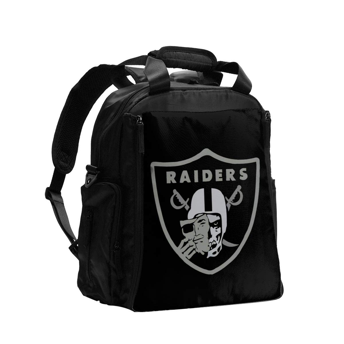 Raiders Skull Diaper Bag Backpack Waterproof Multi-Function Baby Changing Bags Maternity Nappy Bags Durable Large Capacity for Mom Dad Travel Baby Care