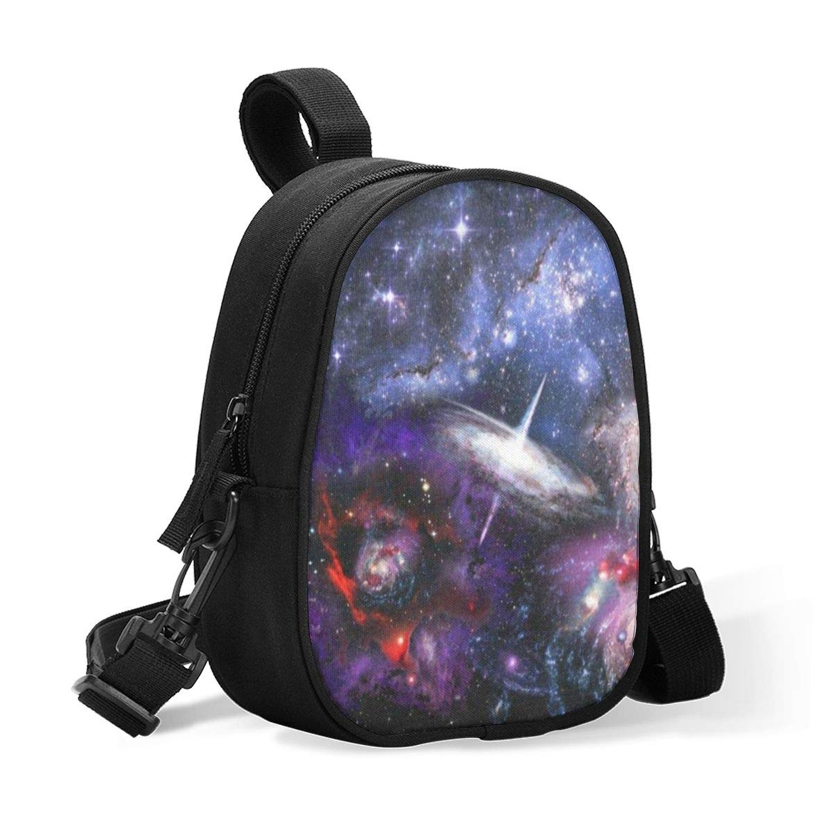 Insulated Baby Bottle Bag Outer Space Galaxy Planet Nebula Multi-Function Breastmilk Cooler Bag & Lunch Bag, Fit As Wine Carrier Or for Milk Bottles, for Nursing Mom Back to Work for 2 Large Bottles