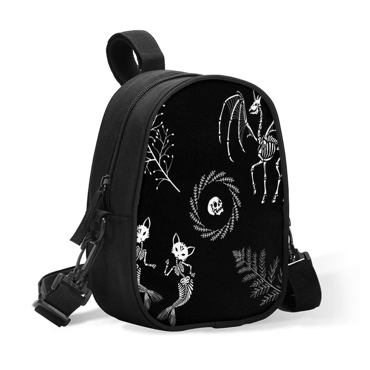 Insulated Baby Bottle Tote Bags for Travel Double Baby Bottle Warmer Or Cool Skeletons of A Magic Creatures Breastmilk Baby Bottle Cooler & Travel Bag, Easily Attaches to Stroller Or Diaper Bag