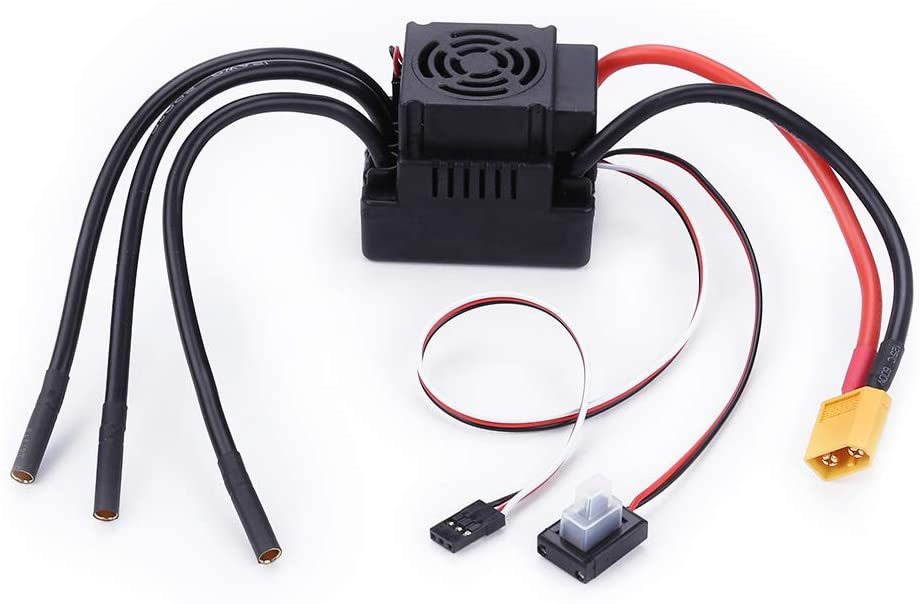 DishyKooker Speed Controller Electric Brushless ESC 80A Card Set 2-4 s 5.8 V / 3a for Car 1/8 1: 8 RC XT60 Plug