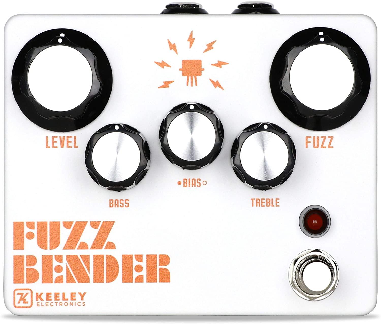 Keeley Fuzz Bender 3 Transistor Hybrid Fuzz Pedal (White)