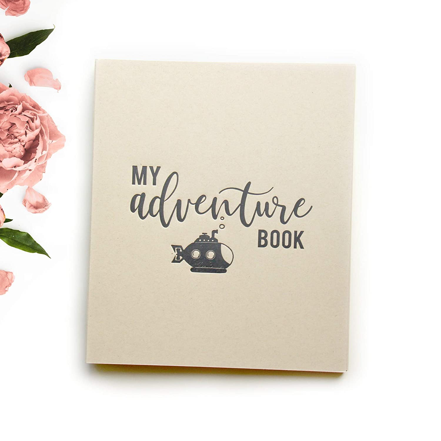 My Adventure Book Toddler Memory Book Baby Memory Book Rustic Baby Journal with Blank Pages | 8.5