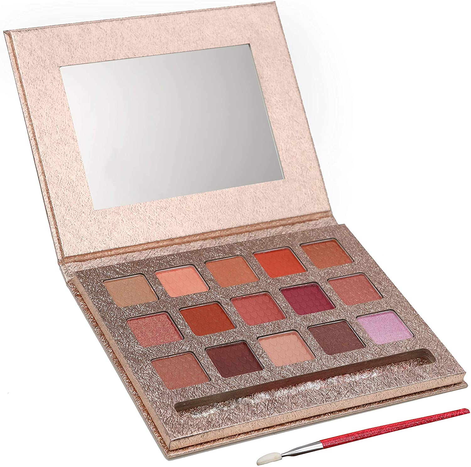DRESS 2 PLAY My First Eyeshadow Palette Kit - Pretend Makeup Princess Playset with 15 Shades - Comes in a Gold Case, Mirror and Brush Included