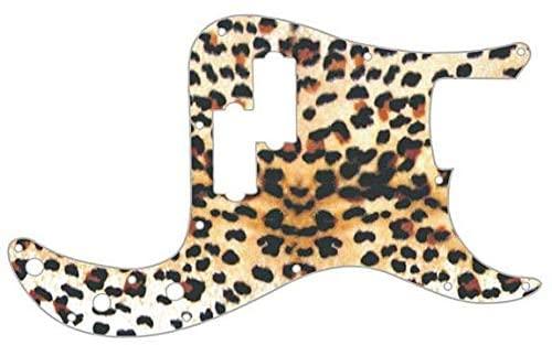 Custom Graphical Pickguard to fit Fender P Bass Precision Bass Cheetah Print