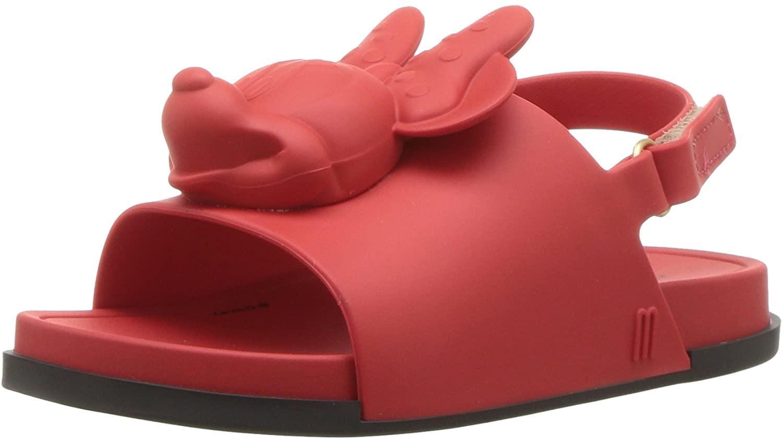 mini melissa Kids' Mini Beach Slide Sandal + Disney Ballet Flat