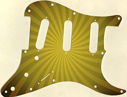 Custom Graphical Pickguard to fit Fender Strat Stratocaster Big Top Yellow