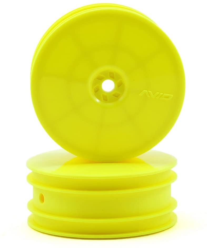 Avid RC 10mm Hex Satellite 2.2 Front Buggy Wheels (2) (TLR 22) (Yellow)