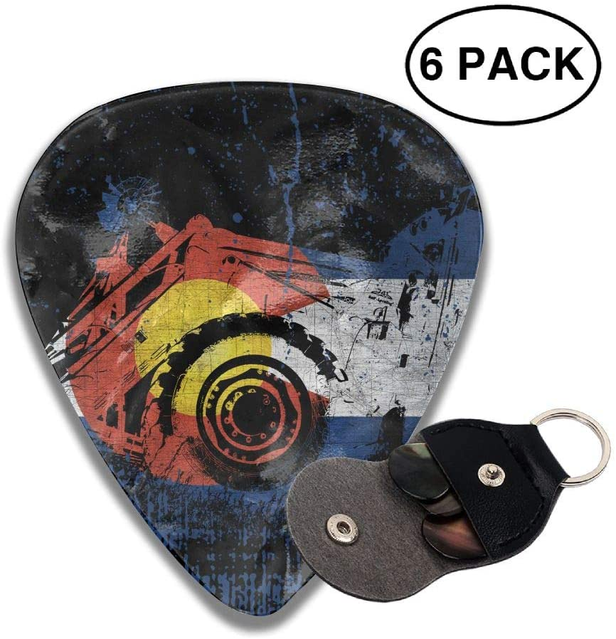 Game Life Abstract State Guitar Picks Plectrums Middle Finger Classic Celluloid Bass Ukulele