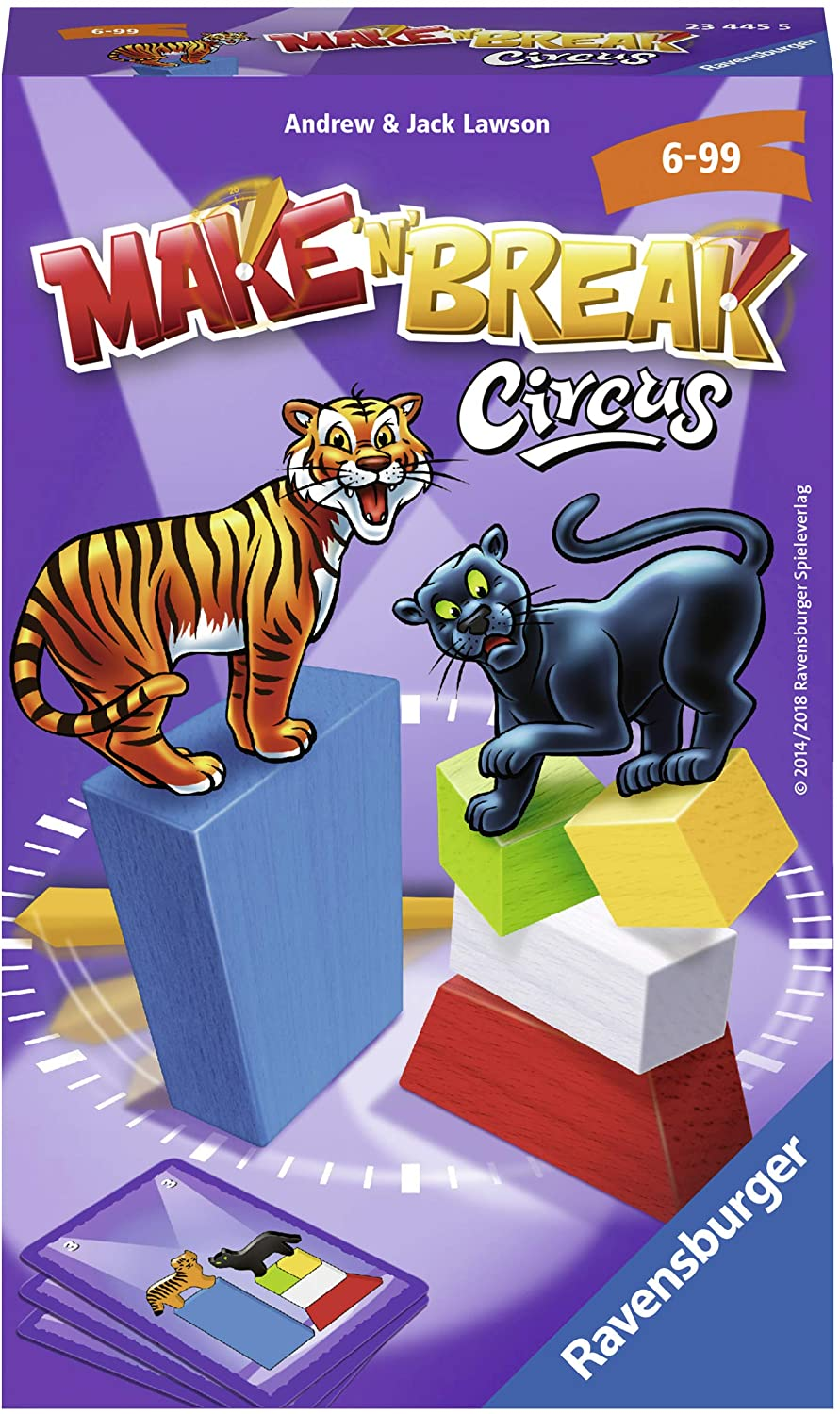Ravensburger 23445 Make 'n' Break Circus Game