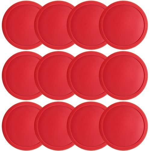 Brybelly Large Full Size Air Hockey Replacement Pucks - Set of Twelve!