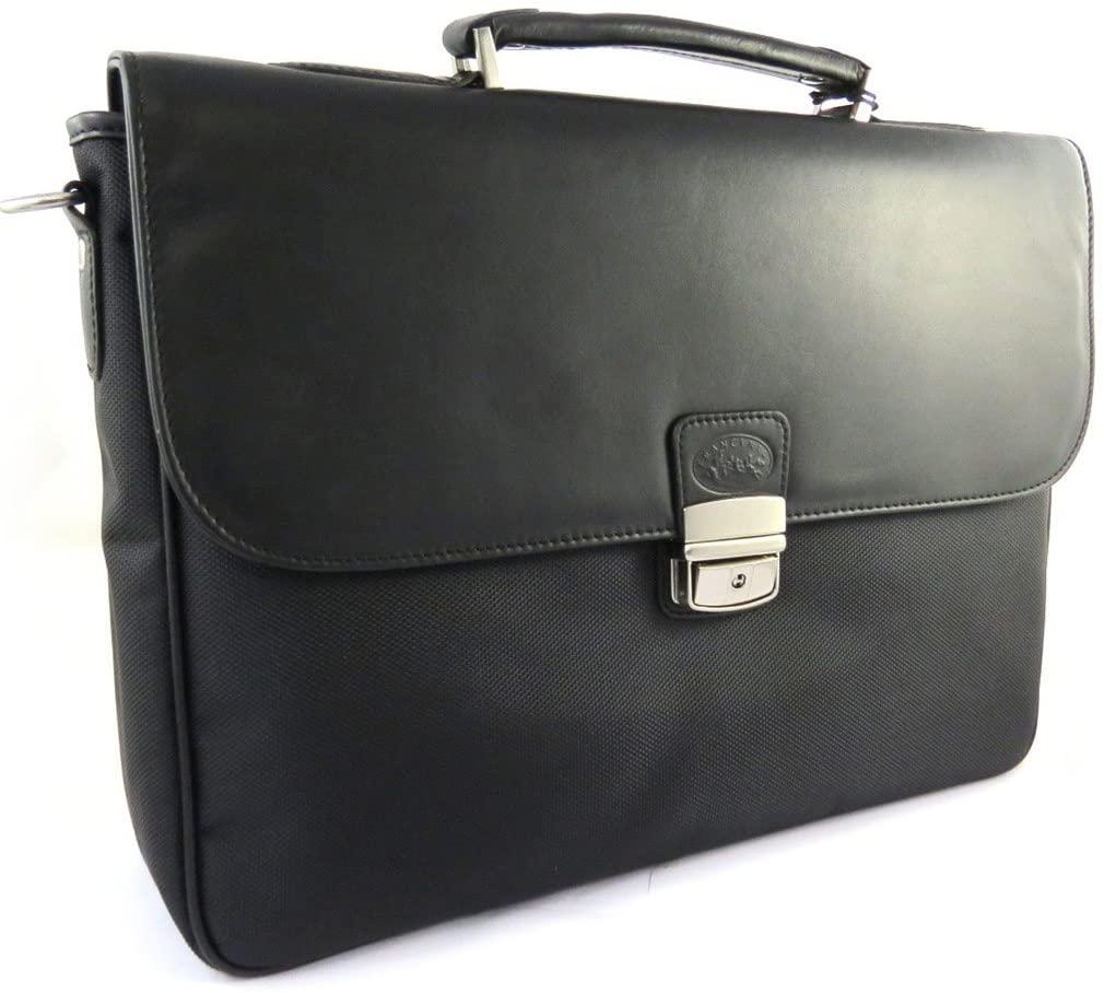 Francinel [L8271] - Briefcase 'Lafayette' black (1 bellows).
