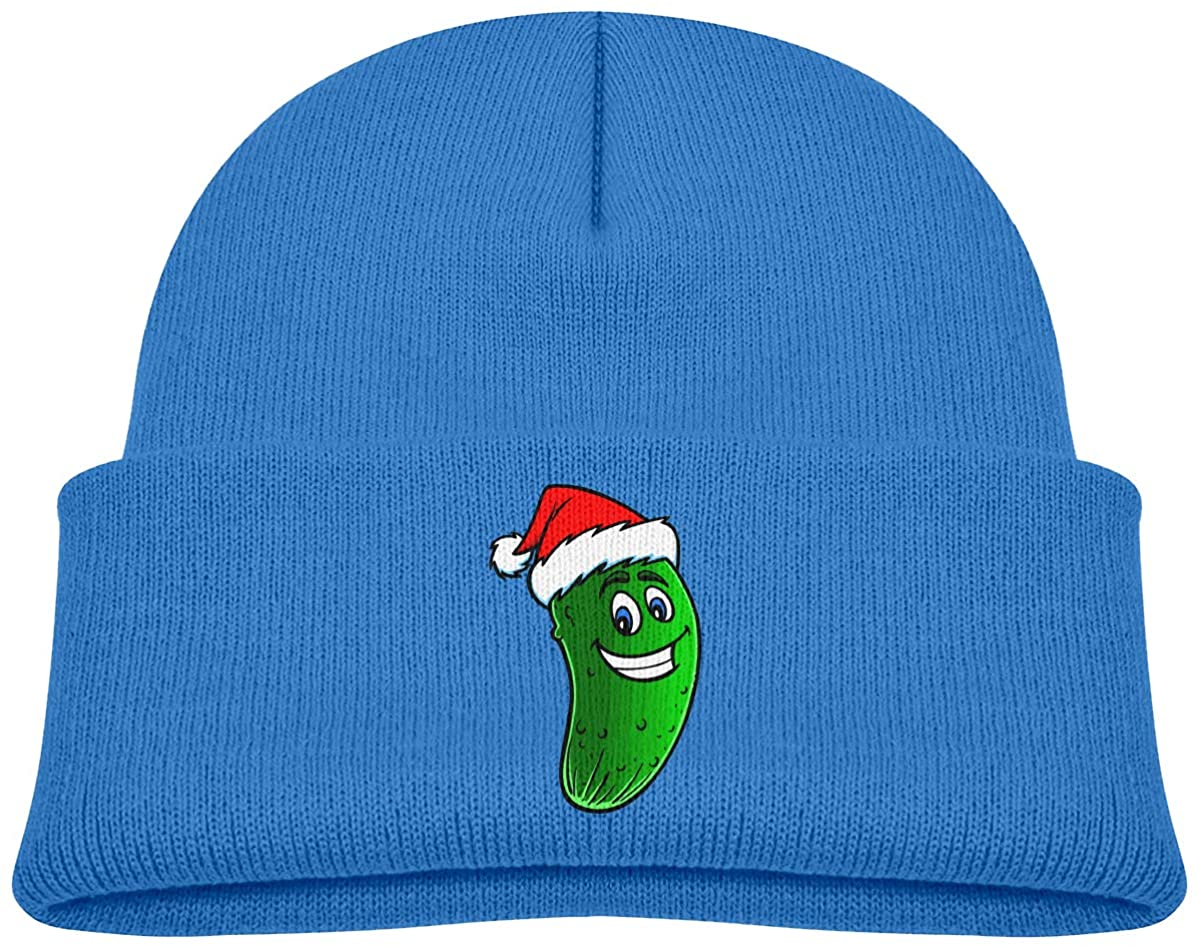 EASON-G Toddler's Beanie Christmas Baby Dill Pickles Cuffed Knit Hat Skull Cap