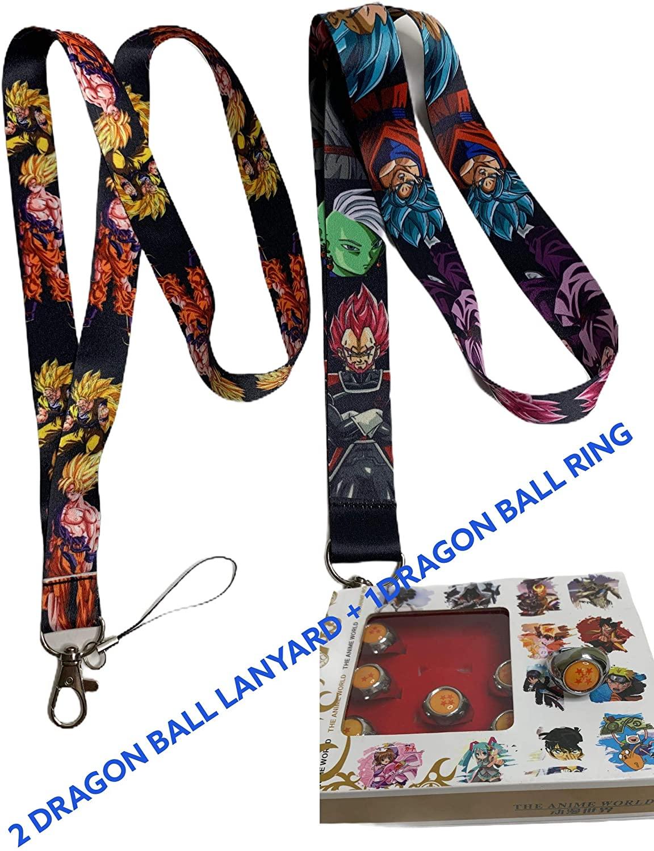 Dragon Ball Lanyards(2) + Dragon Ball Z Ring(1) Good Quality+Fast Then LA and Miami