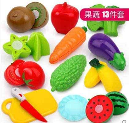 awd Play House Kitchen Fruit Vegetables Cut Cut Le Cut Fruit Children's Toy Set Plastic Simulation Food Boys and Girls
