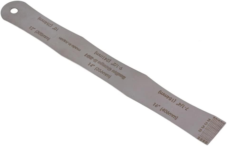Steel Fretboard Fingerboard Radius Gauge Ruler for Bass Guitar Silver